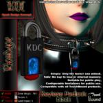 Keyless padlock - black