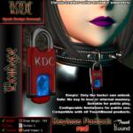 Keyless padlock - red