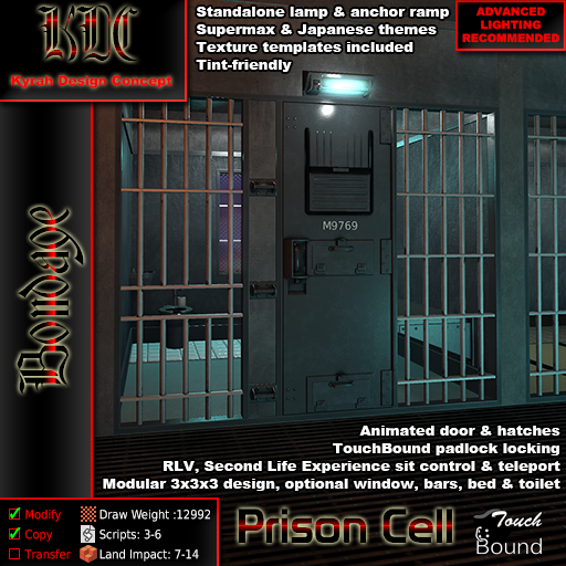 KDC Prison cell product shot