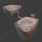 collision mesh of the cell lavatories