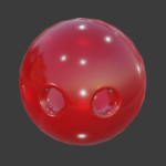 gag ball texture with 3 holes